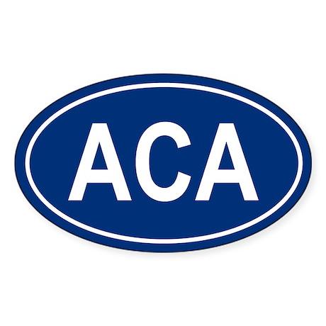 ACA Oval Sticker
