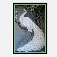 White Peacock Postcards (Package of 8)