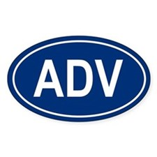 ADV Oval Bumper Stickers