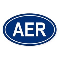 AER Oval Decal