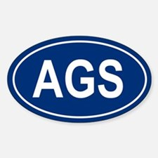AGS Oval Decal