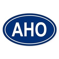 AHO Oval Decal