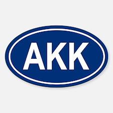 AKK Oval Decal