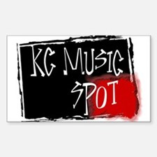 KC Music Spot Rectangle Decal