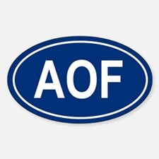 AOF Oval Decal