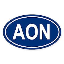 AON Oval Decal