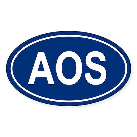 AOS Oval Sticker