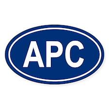 APC Oval Bumper Stickers