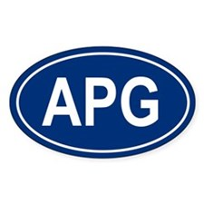 APG Oval Decal