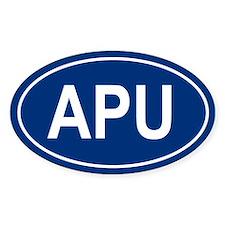 APU Oval Bumper Stickers