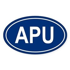 APU Oval Decal