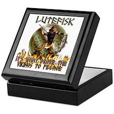 Anti Lutefisk humor Keepsake Box