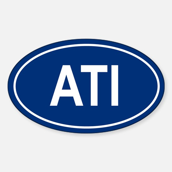 ATI Oval Decal
