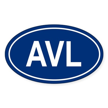 AVL Oval Sticker