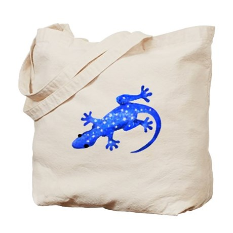 Blue Lizard Tote Bag