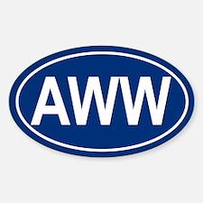 AWW Oval Decal