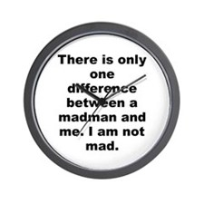 Salvador dali quotation Wall Clock