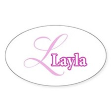 Layla Oval Decal