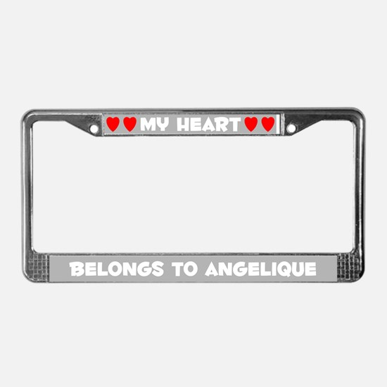 My Heart: Angelique (#006) License Plate Frame
