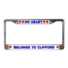 My Heart: Clifford (#005) License Plate Frame