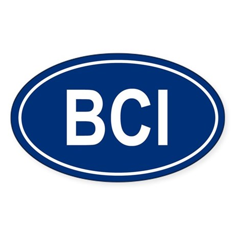 BCI Oval Sticker