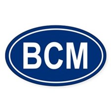 BCM Oval Bumper Stickers