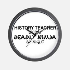 History Teacher Deadly Ninja Wall Clock