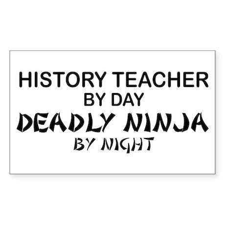 History Teacher Deadly Ninja Rectangle Sticker