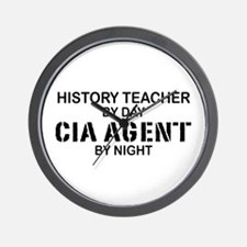 History Teacher CIA Agent Wall Clock