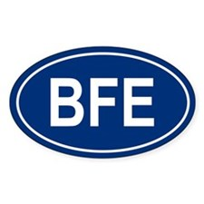 BFE Oval Bumper Stickers