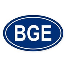 BGE Oval Decal