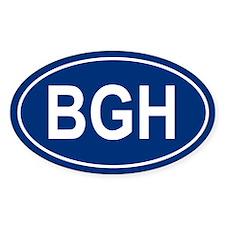 BGH Oval Decal