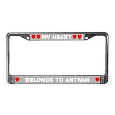 My Heart: Antwan (#006) License Plate Frame