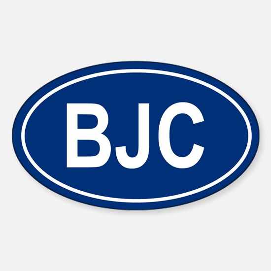 BJC Oval Decal