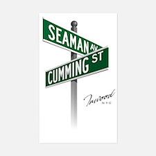 Seaman and Cumming sticker