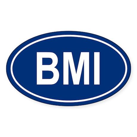 BMI Oval Sticker