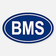BMS Oval Decal