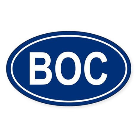 BOC Oval Sticker