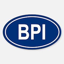 BPI Oval Decal