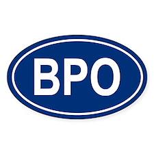 BPO Oval Decal