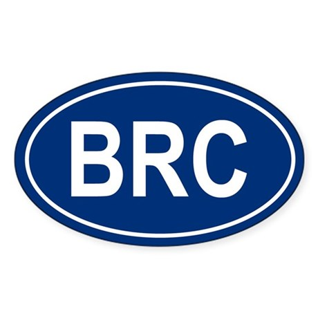 BRC Oval Sticker