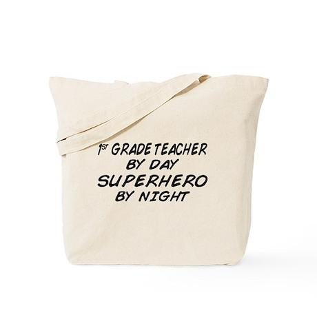 1st Grade Teacher Superhero Tote Bag