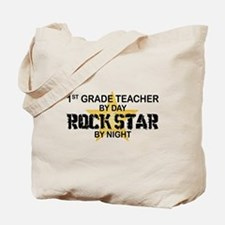 1st Grade Teacher Rock Star Tote Bag