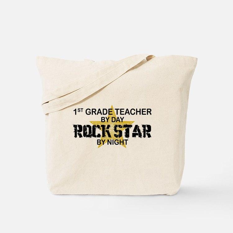 1st Grade Teacher Rock Star Tote Bag