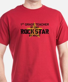 1st Grade Teacher Rock Star T-Shirt