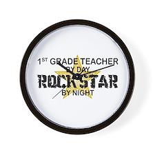 1st Grade Teacher Rock Star Wall Clock