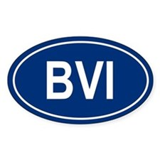 BVI Oval Bumper Stickers