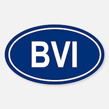 BVI Oval Bumper Stickers