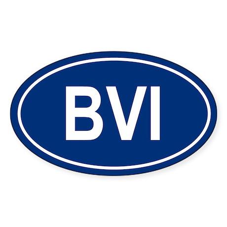 BVI Oval Sticker