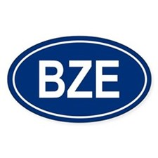 BZE Oval Bumper Stickers